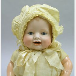 Bisque Flange Neck Bonnie Babe Character Doll