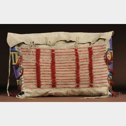 Plains Beaded and Quilled Hide Possible Bag
