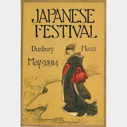 American School, 20th Century      Poster Design: Japanese Festival/Duxbury Mass/May 9, 1914