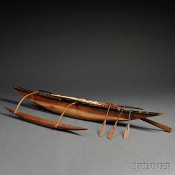 Polynesian Model Outrigger Canoe