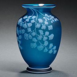 Thomas Webb & Sons Cameo Glass Vase