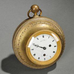 Gilt-bronze Wall Clock