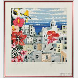 Junichiro Sekino (1914-1988) Color Woodblock Print