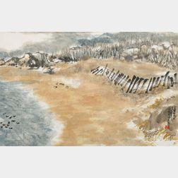 Landscape Depicting a Sandy Waterside
