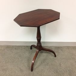 Federal Walnut and Cherry Tilt-top Candlestand