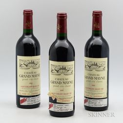 Chateau Grand Mayne 1990, 3 bottles