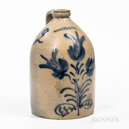Two-gallon Cobalt-decorated Stoneware Jug