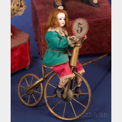 Early Cyclist Automaton from a Jeu de Course Gambling Game