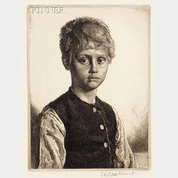 Gerald Leslie Brockhurst (British, 1890-1978)      Lot of Two Portraits:  Phemie