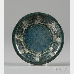 Newcomb College Pottery Decorated Plate