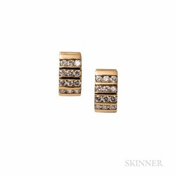 14kt Gold and Diamond Earrings