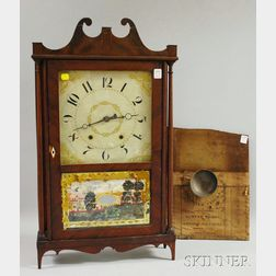 Samuel Terry Mahogany Pillar and Scroll Clock
