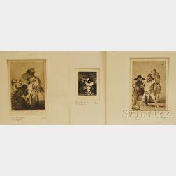 Francisco Jose De Goya Y Lucientes (Spanish, 1746-1828)      Three Works.