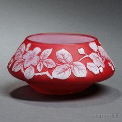 English Cameo Glass Bowl