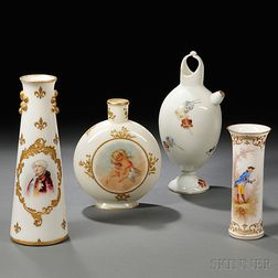 Four Mount Washington Glass Items