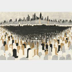 Junichiro Sekino (1914-1988), Graveyard and New York