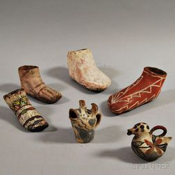 Six Southwest Pottery Items