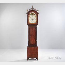 Mahogany and Mahogany Veneer Tall Case Clock