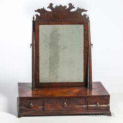 Mahogany Veneer Block-front Dressing Mirror