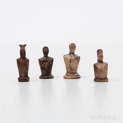 Four Eskimo Human Torso Figures