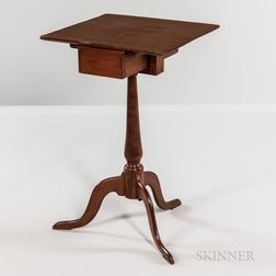 Shaker Cherry and Pine Sewing Stand with Drawer