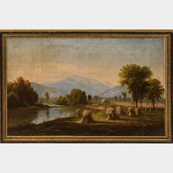 Framed Chromolithograph of a White Mountains Scene After B. Champney