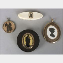 Four Miniature Portrait Items