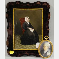 Two Small and Miniature Portraits of Older Women