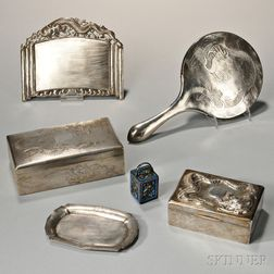 Six Export Silver Items