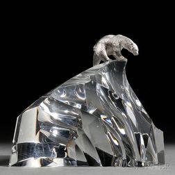 James Houston for Steuben Ice Bear   Sculpture