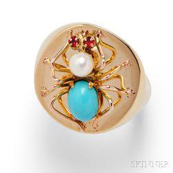 14kt Gold Spider Ring