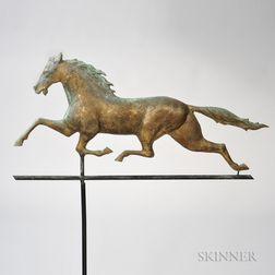 Molded Sheet Copper Running Horse Weathervane