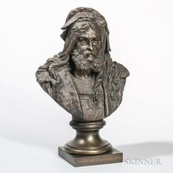 Attributed to Albert-Ernest Carrier-Belleuse (French, 1824-1887)    Bronze Bust of a Nobleman