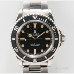 "Rolex Submariner Stainless Steel Reference 5513 ""Feet First"" Wristwatch"