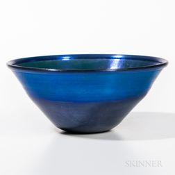 Tiffany Blue Favrile Bowl