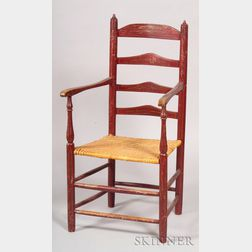 Paint-decorated Slat-back Armchair