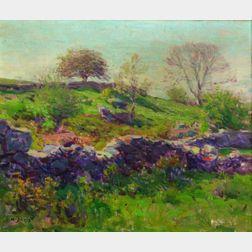 Charles Harold Davis (American, 1856-1933)    Garden Wall
