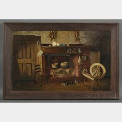 James Walter Folger (Nantucket, Massachusetts, 1851-1918)      Nantucket Cottage Hearth.