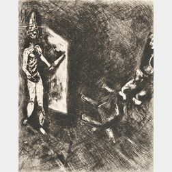Marc Chagall (French/Russian, 1887-1985)      Two Images from FABLES
