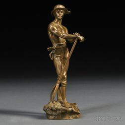 After Charles-Octave Levy (French, 1820-1899)       Bronze Figure of Le Faneur