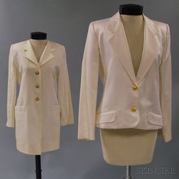 Two White Evening Jackets