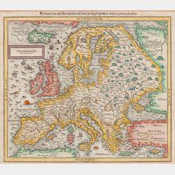 Europe. Sebastian Münster (1488-1552) Europa / das ein Drittheil der Erden / nach Gelegenheit Unsern Zeiten Cosmographia.