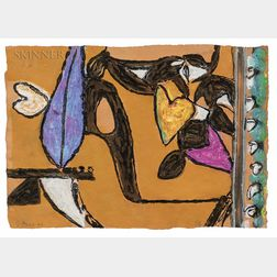 Gillian Ayres (British, 1930-2018)      Cinnabar