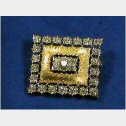 18kt Bi-color Gold and Diamond Brooch