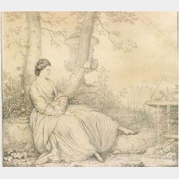 Attributed to Richard Cosway (British, 1742-1821)  Kitty Fisher
