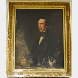 George Hollingworth (1813-1882) Oil on Canvas Portrait of Rev. Francis Cunningham