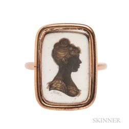 Antique Silhouette by John Miers in a Gold Ring