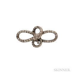 Late Georgian Diamond Snake Brooch