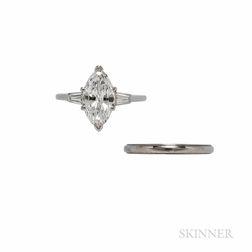 Cartier Platinum and Diamond Solitaire