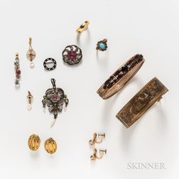 Group of Antique Costume Jewelry